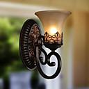 ecolight® lamparas de pared de la vendimia 1 luz con luces de pasillo material de resina de vidrio sombra cama sala sala de estar