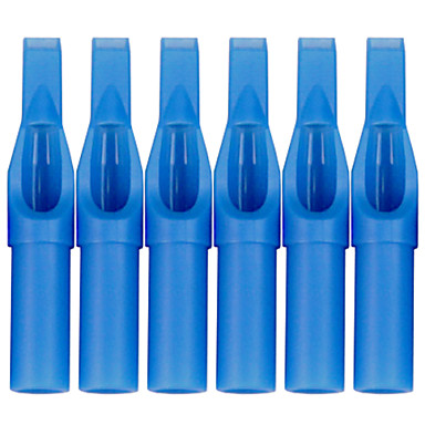 itatoo 100pcs tattoo supply sterile blue plastic disposable tattoo tips flat magnum tips