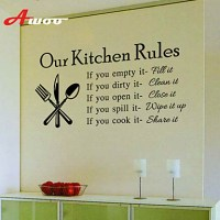 New Our Kitchen Rules Pattern Kitchen Wall Sticker Home ...