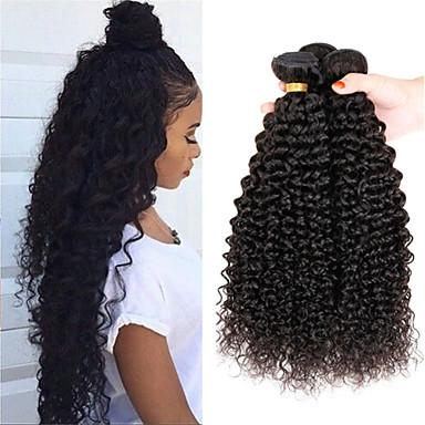 3 bundles kinky curly peruvian virgin hair extensions weft human hair weave lot 2016