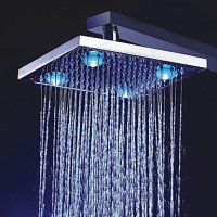 8 inch Color Changing LED Shower Head with 4 LED Lights ...