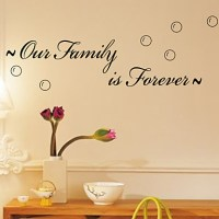 Our Family Is Forever Wall Decals ZY8179 Decorative ...