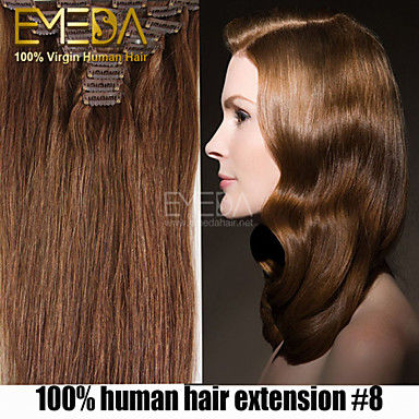 high quality 70g brazilian virgin hair 7pcs set african american clip in human hair extensions