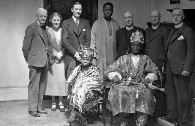 Mellor W.F. in photo with Alake of Abeokuta