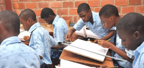 Technical Drawing class at Oluyole College