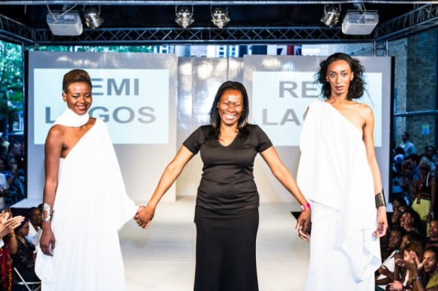 Remi Lagos at a fashion show