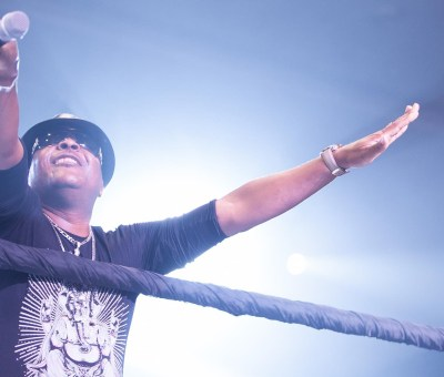 Shina Peters at a comedian, AY's show. Source: EventsPro
