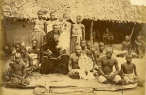 Gbadebo I with some members of the Egba Royal Court