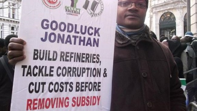 Gradualists protests President Jonathan's subsidy removal in 2012