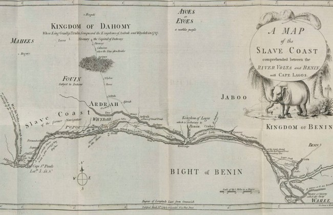 Map of the Slave Coast 1789.