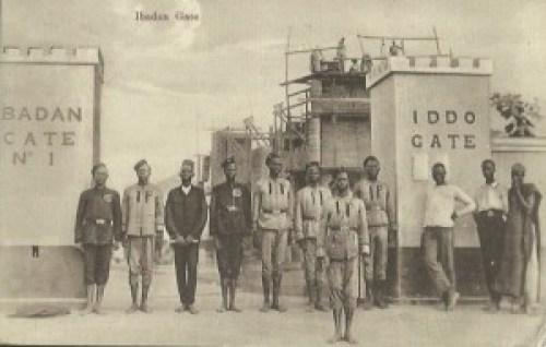 Ibadan gate- Iddo gate Native soldiers