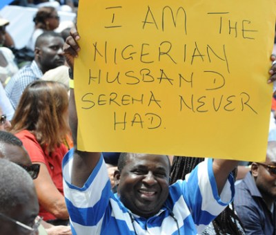 Fans at the Serena sisters game in Lagos
