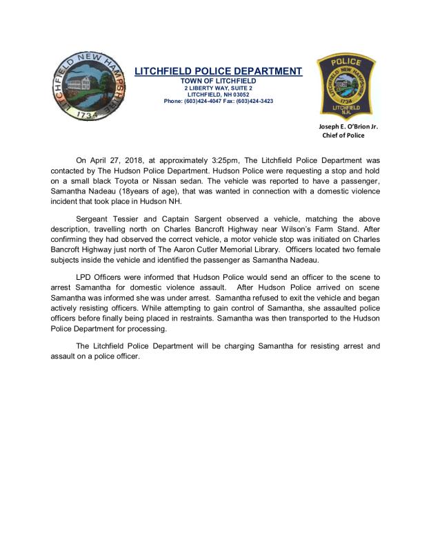 Press Release Nadeau
