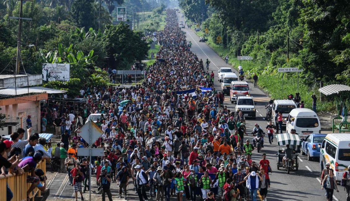 Migrants' Caravan Under Attack