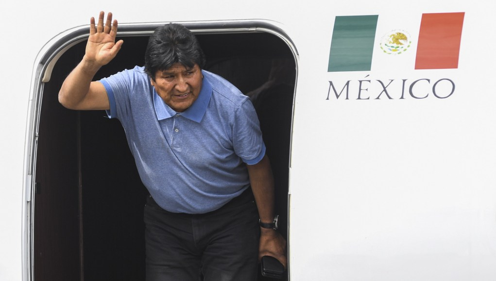 Evo Morales exiled in Mexico