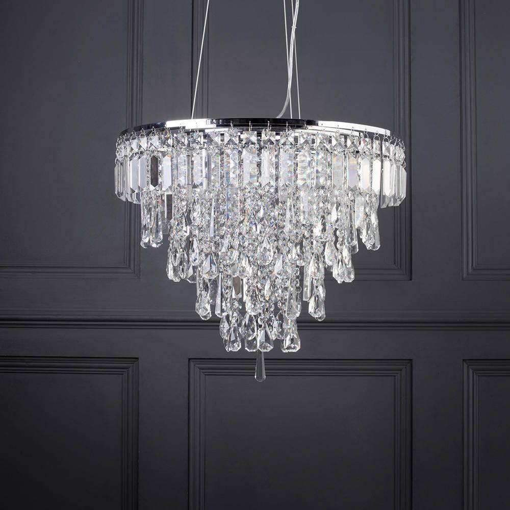 Bathroom Chandelier Lighting Marquis By Waterford Bresna Led 6 Light Bathroom Ceiling Pendant Chrome