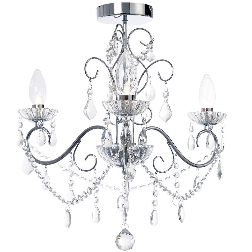 Bathroom Chandelier Lighting Details About Litecraft Vara Chrome Ip44 Curved 3 Arm Crystal Effect Bathroom Chandelier Light