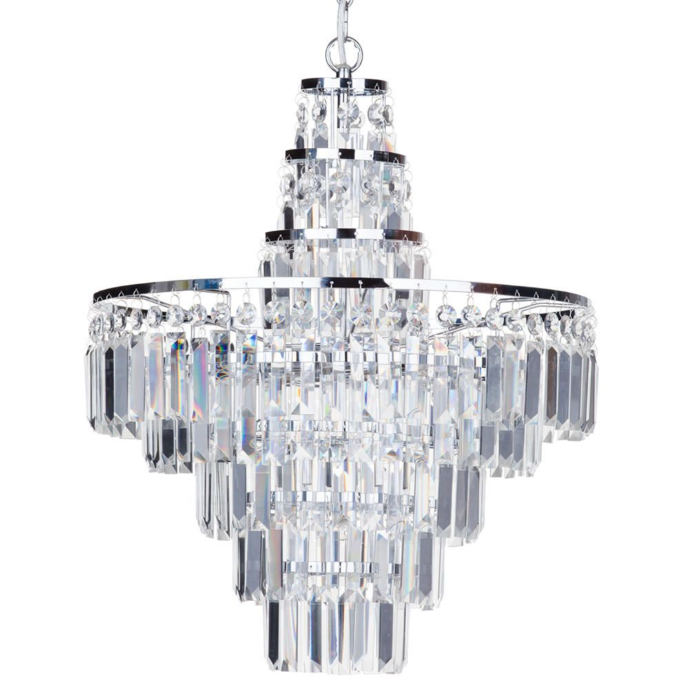 Bathroom Chandelier Lighting Vasca Crystal Bar Large Bathroom Chandelier Chrome From Litecraft