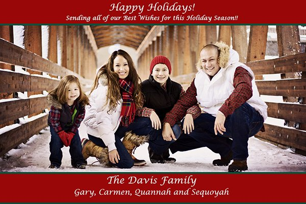 happy holidays from the davis family litefoot