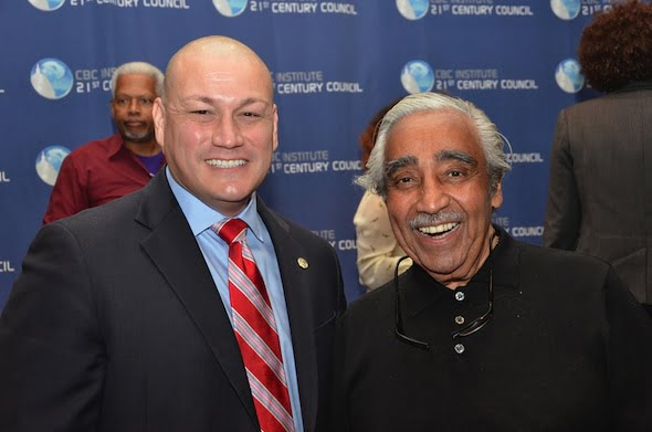 Litefoot With Congress man U.S. Congressman Charles B. Rangel
