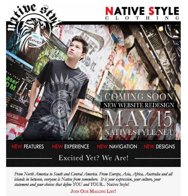 Newly Redesigned Native Style Website Coming Soon