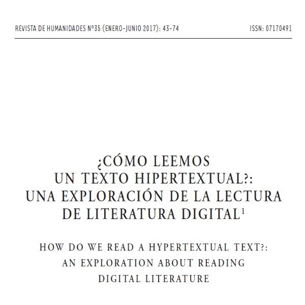 Revista de Humanidades publica artículo sobre lectura en digital