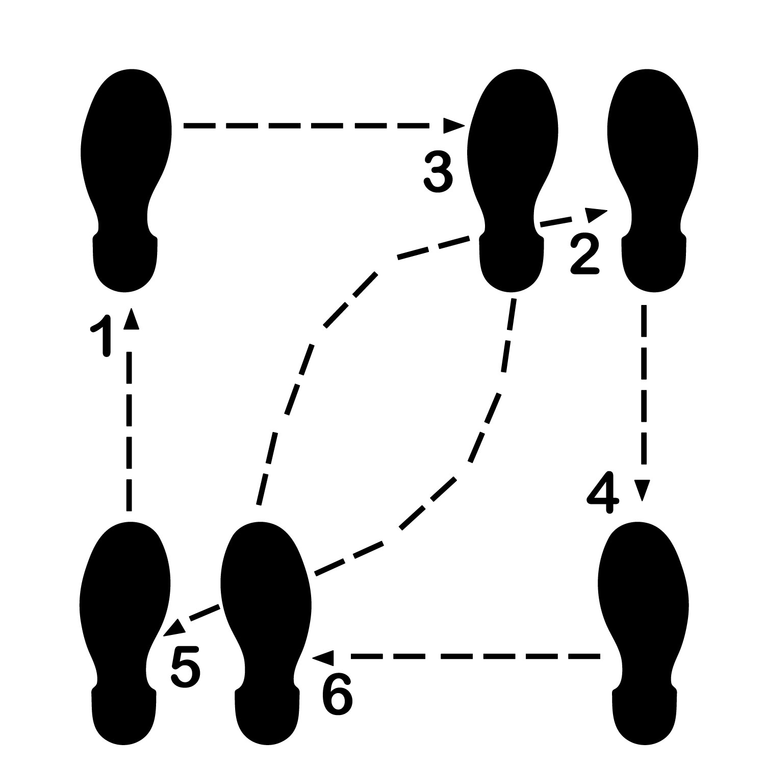 Litemark Durable Dance Floor Diagram Decal 8 Step Kit
