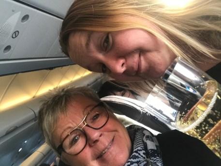 På vänster sida på väg till New York med Eva-Lena 2017
