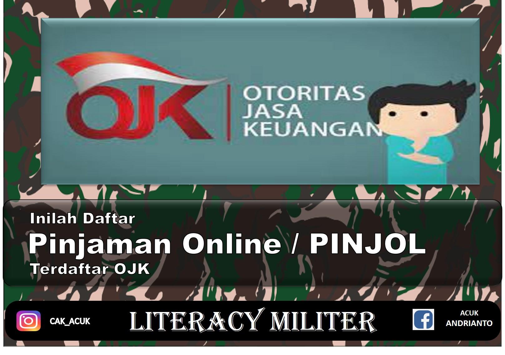 Pinjaman Online Pinjol Legal Terdaftar Ojk Literacy Militer