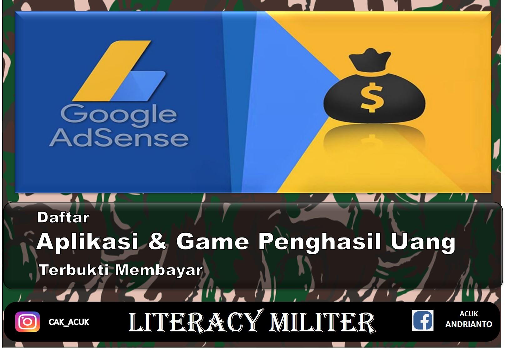Aplikasi Dan Game Penghasil Uang Langsung Ke Rekening Benarkah Ada Literacy Militer
