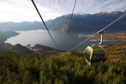 gondola ride - Sea to Sky Gondola - credit Paul Bride