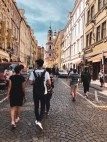 Walking through Prague