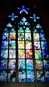 Stained glass window within St. Vitus Cathedral
