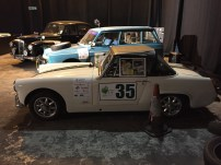 "The 3 cars featured in the ""Classic Car Rally"" Challenge. (left to right Richard Hammond's Lanchester in black, James May's Citroen in blue and Jeremy Clarkson's Austin Healy Sprite in cream."
