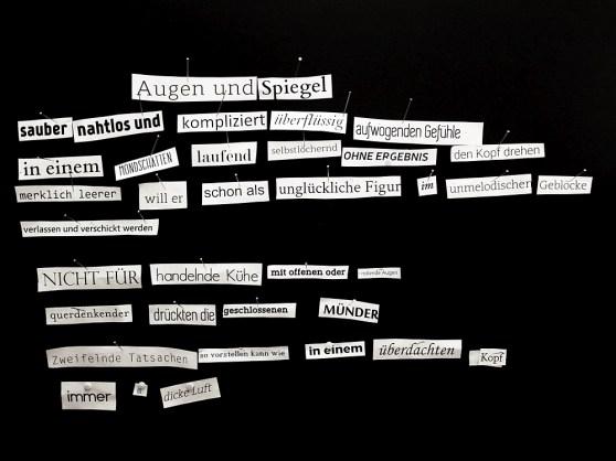 Das spontane Gedicht #6 - entstanden zur Literaturwoche Ulm 2015 am am 18. Juni 2015 (Foto: J. Eiden)