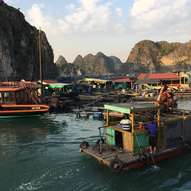 Floating village, Cat Ba