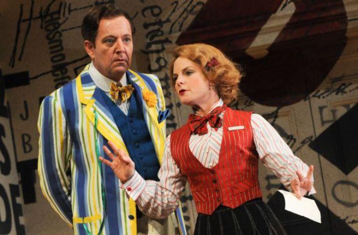 Jonathon Biggins and Rebecca Massey in Travesties- Photo - Heidren Lohr (1)