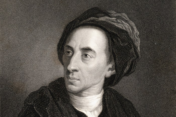 Alexander Pope, 1688-1744 English poet and satirist. From the book 'Gallery of Portraits' published London 1833.
