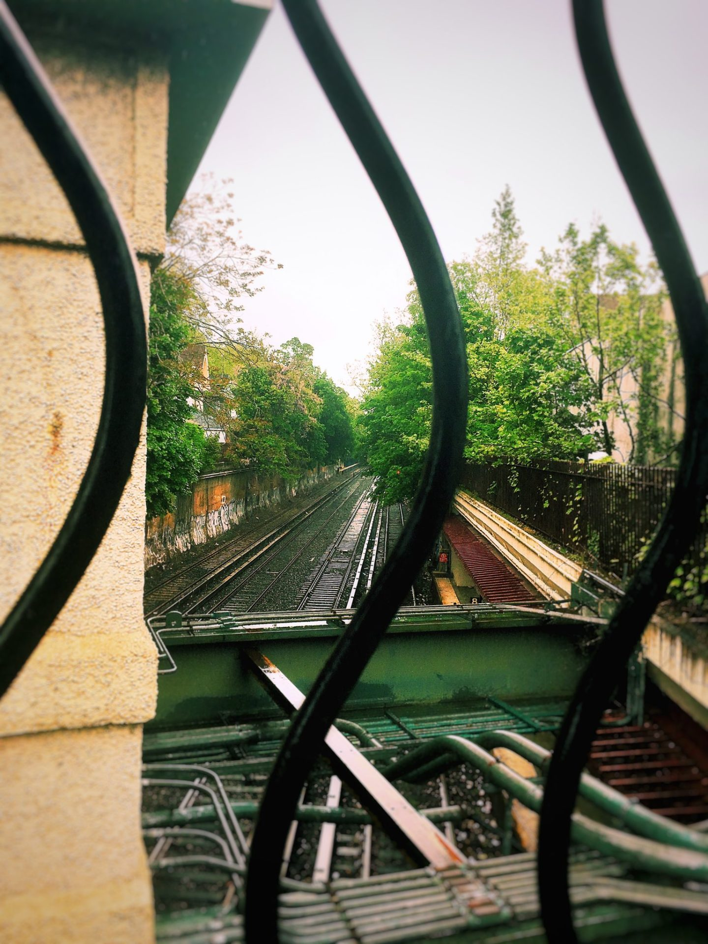 Ditmas Park, Cortelyou train tracks