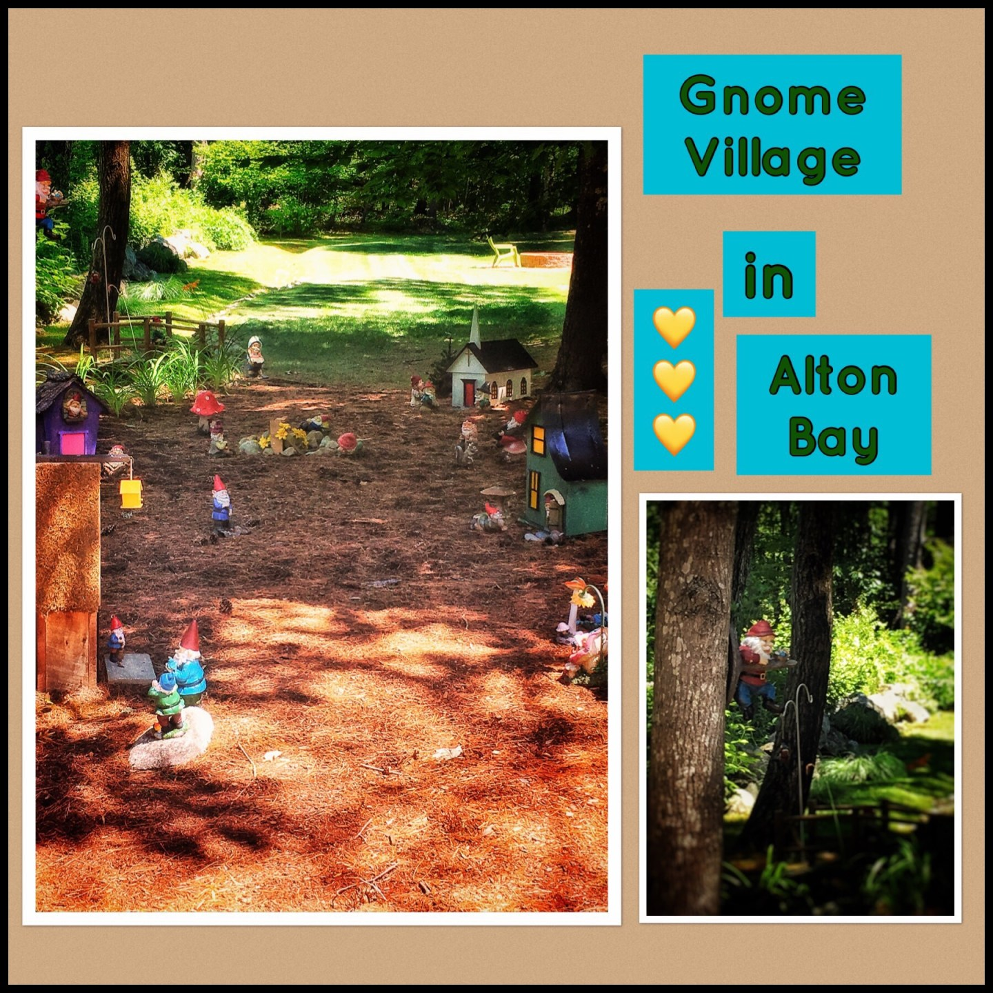 Alton, Gnome Village, Lake Winnipesaukee tour