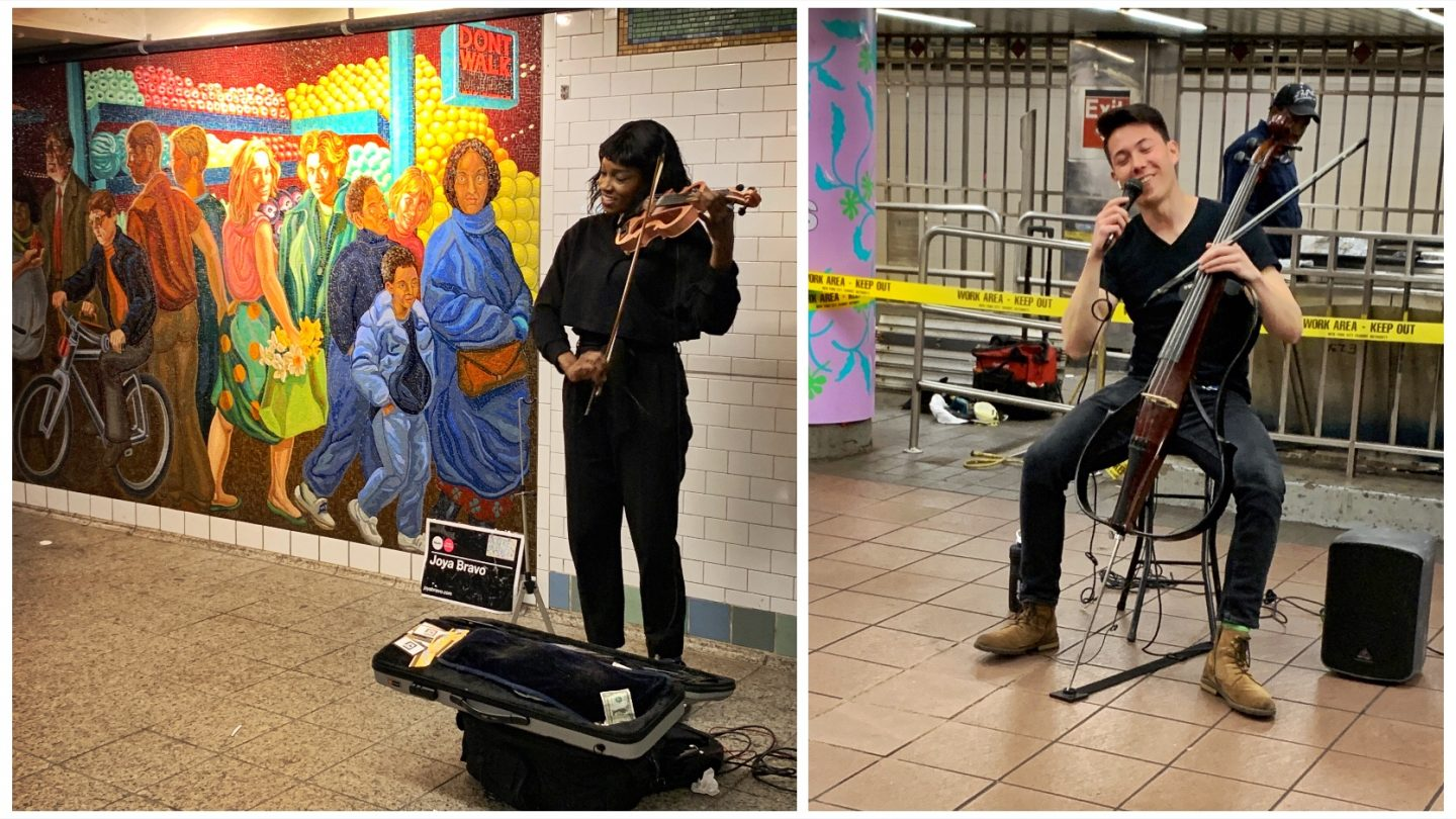 Subway musicians seen during my Roomies New York City tour