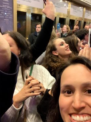 Selfie with Tom Hiddleston at Betrayal