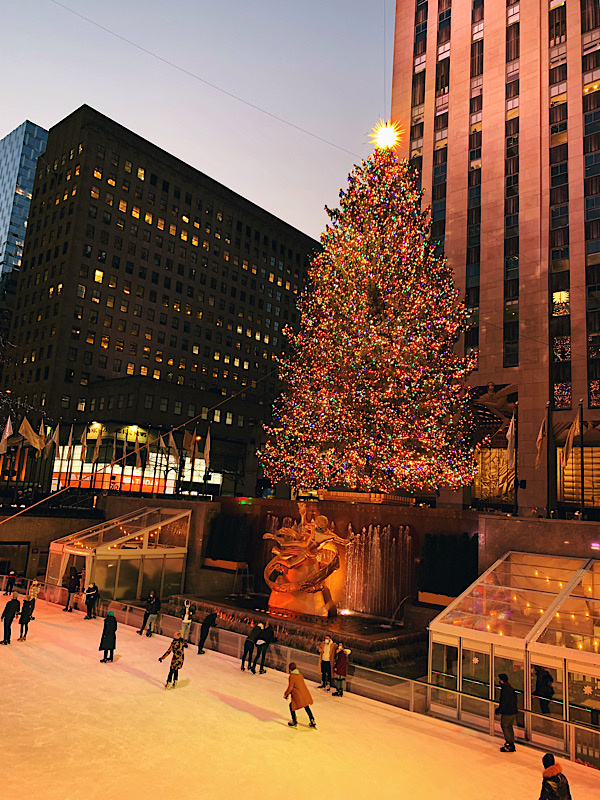 Rockefeller Christmas Tree and skating rink