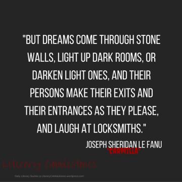 "October 7: Joseph Sheridan Le Fanu's ""Carmilla"" | Daily Literary Quotes @ Literary Cobblestones"