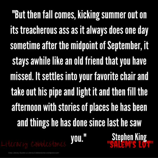 "October 12: Stephen King's ""Salem's Lot"" | Daily Literary Quotes @ Literary Cobblestones"