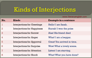 Definition and types of interjection