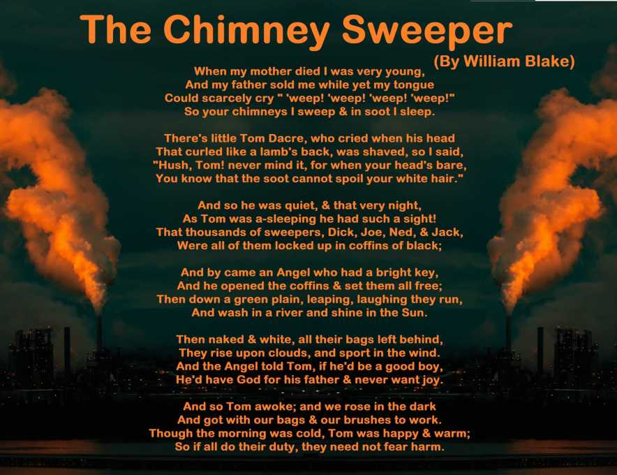 Summary of The Chimney Sweeper by William Blake