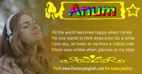 Anum, Name Poetry