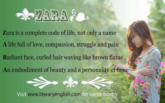 Name Poetry : Zara