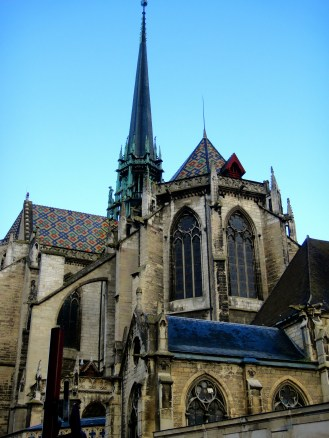 Cathedral-tiled roofs typical to the town